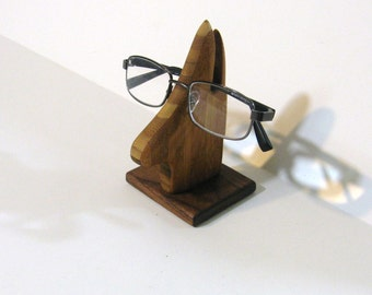 Eyeglass Holder Made Of Bamboo And Walnut Woods