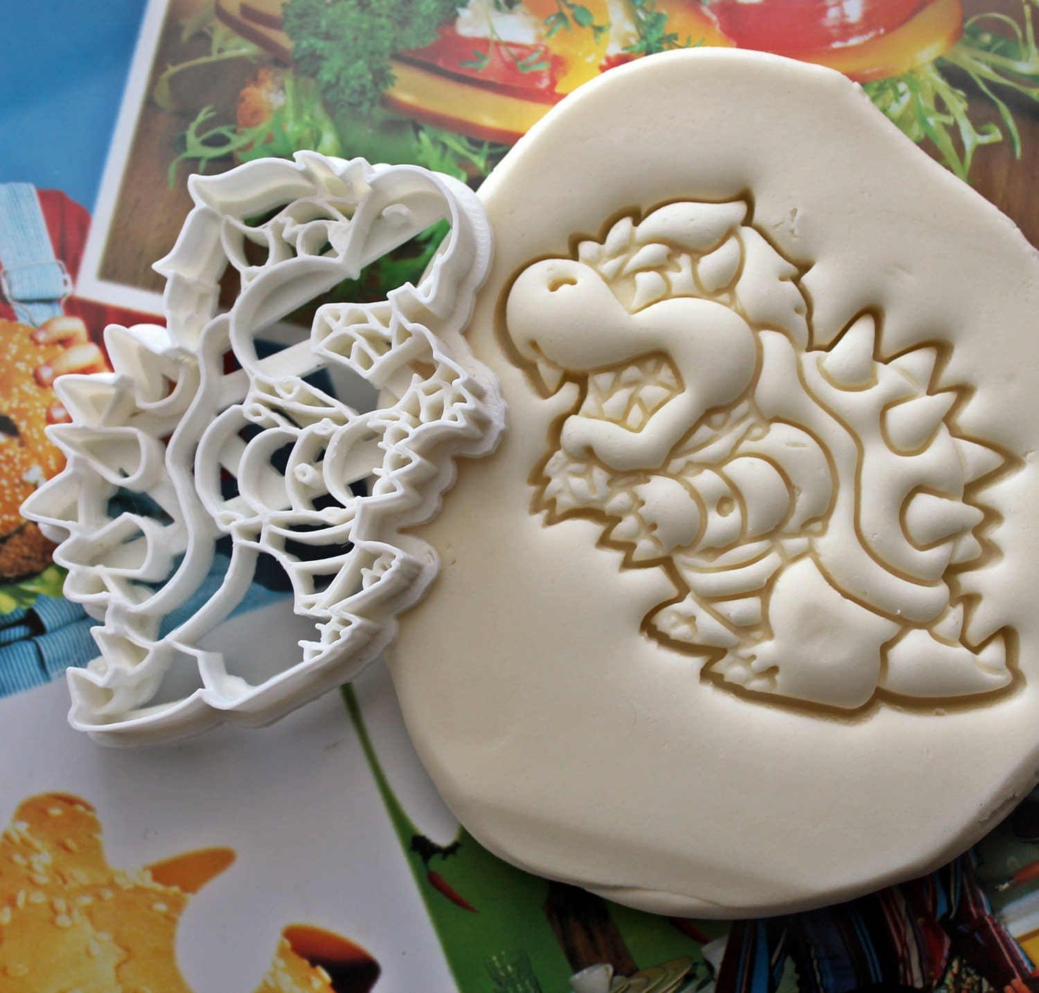 Super Mario Bowser Cookie Cutter  Made From Biodegradable - Bowser birthday cake