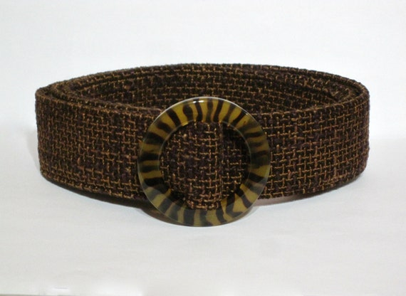 brown fabric belt brown woven belt wide by