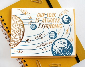 Love is Always Expanding Letterpress and Foil Card