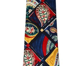 Vintage Ermenegildo Zegna Blue Silk Necktie Made in Italy