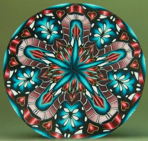 Kaleidoscope Ca: Circle Kaleidoscope Polymer Clay Cane 'Intuition