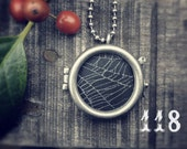 Charlotte's Web Talisman Necklace:  Real Spider Web #118