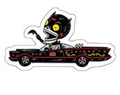 Old Bat Calavera Die Cut Vinyl Sticker