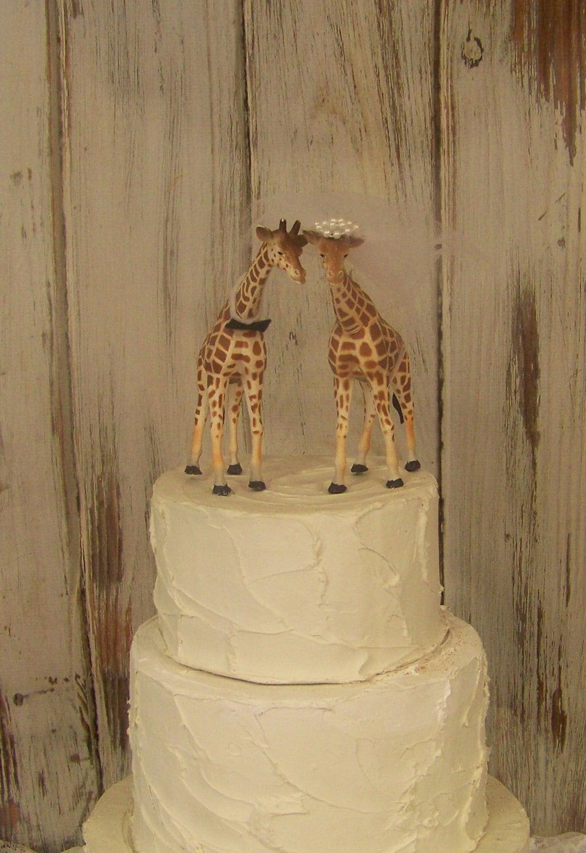Giraffe Cake Topper Animal Wedding Cake Topper Animal Cake