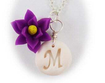 Personalized Magnolia Initial Necklace - Magnolia Jewelry