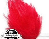 Red - Feather Pad - for - Millinery - Fascinators - Headbands