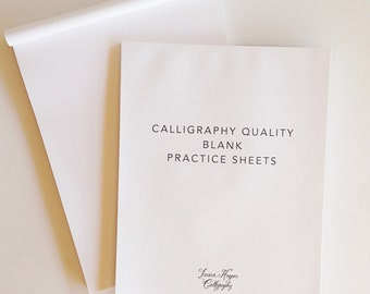 Blank Calligraphy Practice Notepad