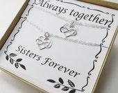 Sisters Bracelet Gift SET, Friendship Bracelet, Sorority, Bridesmaids Jewelry,Set of Two Bracelets,Infinity Bracelets for Sister,Best Friend