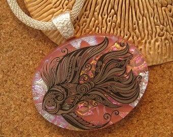 Dichroic Fish Pendant - Dichroic Jewelry- Fish Jewelry - Fused Glass Pendant - Fused Glass Jewelry
