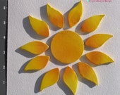 "Sun  - Handmade Kiln Fired Ceramic Mosaic Tiles  It is about 6""  in size M3097"