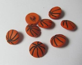 Small Basketball Novelty Buttons