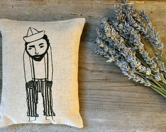 Le Solitaire sachet lavender pillow / homegrown organic dried plant / men gifting