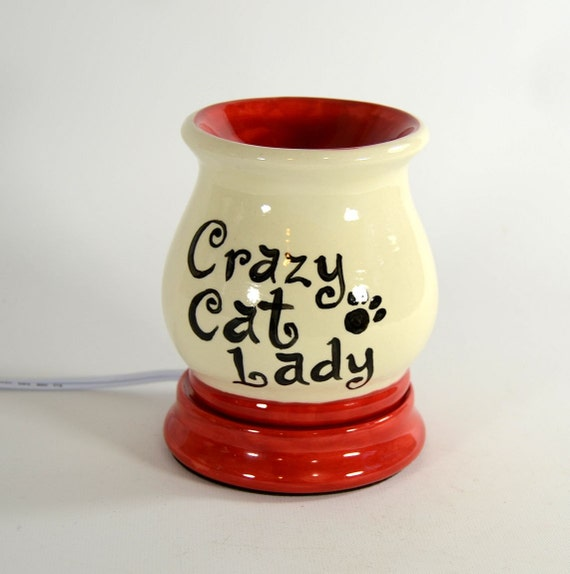 Electric Tart Burners ~ Electric tart burner oil warmer crazy cat lady made to order