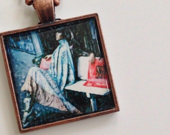 "Woman pendant - photo pendant-"" Resting or Dreaming """