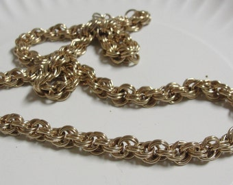 Gold Tone Vintage 24 inch Chain