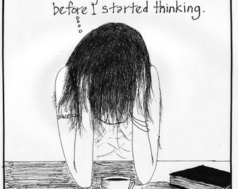 BEFORE THINKING cartoon