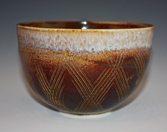 Serving Bowl - Soup Bowl - Brown Bowl - Handmade Bowl -  110315