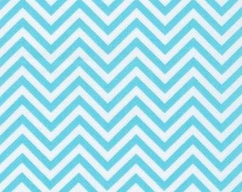 Ann Kelle Remix Chevron fabric bundle by Robert Kaufman and Fabric Shoppe- Small Chevron in Aqua- 1 yard or by the yard