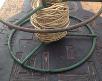 String wheel holder- vintage industrial
