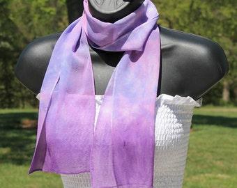Orchid Dreams ... silk chiffon scarf