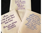 Embroidered Ladies Bridal or Mens Wedding Handkerchief | Hankie| Hanky | Hankerchief  | Personalized | Monogrammed | Lucy's Pocket