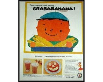 Grababanana Cute Chiquita Banana Boy Wall Art Decor E101