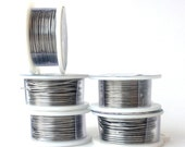 6 Spools of Brushed Silver Wire - 18, 20, 22, 24, 26, 28 Gauge - With Priority Shipping - Custom Order