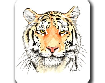 Color Tiger Face Art Mouse Pad