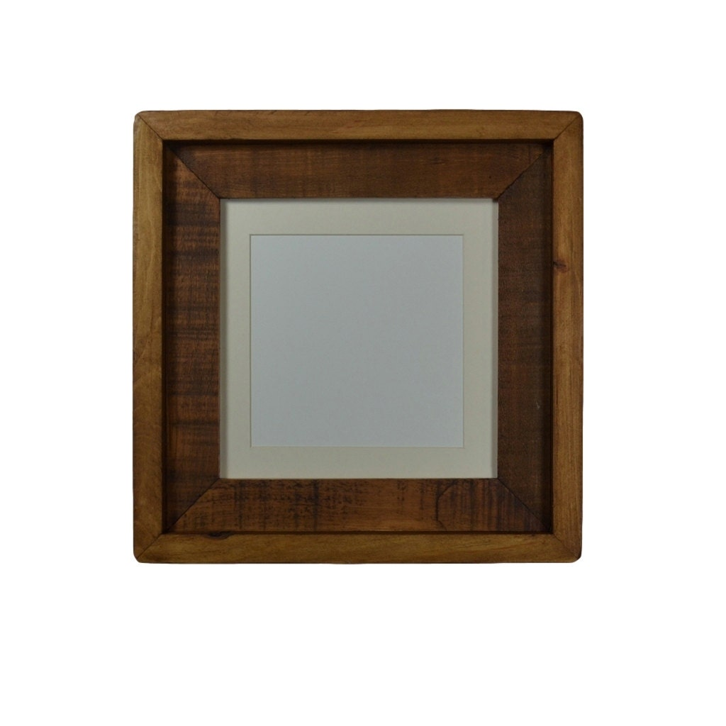 8x8 Reclaimed Wood Frame With Mat For 6x6 Or 5x5 By Barnwood4u