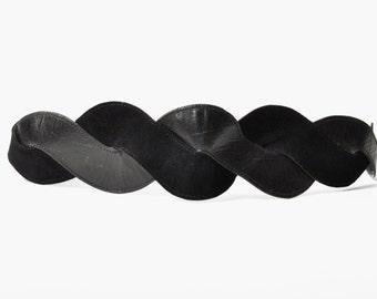 SALE - Vintage Black Interwoven Belt