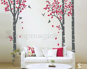 Birch Trees Vinyl Wall Decal - K109B