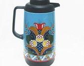 Vintage Scandinavian Kokskungen Floral Coffee Carafe