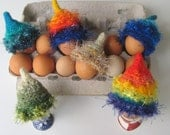 SAMPLES, Egg Hats Dolls Hats, Mini Art Hat, Sample Egg Cozy