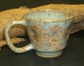 Mug Seaspray and Antique Iron Dimensional Circles