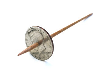 Modern Coin Takhli Support Spindle Kennedy Half Supported Spinning of Handspun Lace Yarn or Thread - like Russian or Tibetan or Tahkli
