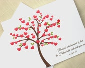 Inspirational Note Cards - Valentine Cards - Tree Stationery - Set of 8