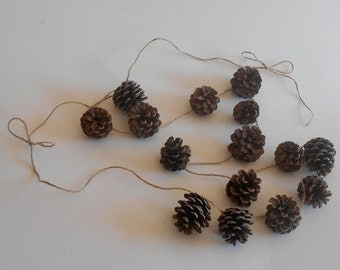 Pine Cone Rustic Twine Garland 6ft