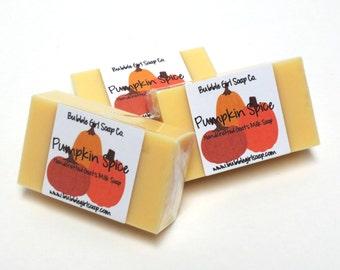 Pumpkin Spice Handmade Goats Milk S oap MINI GUEST SIZE Soap Bar ...