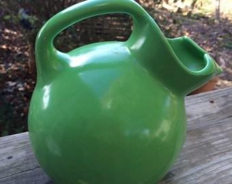 Vintage Green New Castle Pottery Ice Tea Pitcher