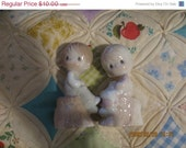 On Sale Now 1993 Precious Moments Salt and Pepper Shakers, Girl and Boy, Romantic