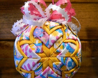SPRING PAISLEY- Folded Star Ornament Kit - No Sewing - Complete Kit