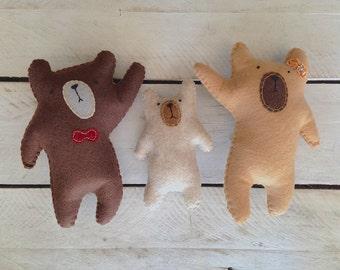 Felt stuffed Bear Family