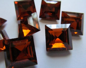 4 Beautiful Dark Amber Gold Foil Back Rhinestones Cabs