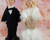 Fred Astaire and Ginger Rogers Doll Miniature Set Golden Hollywood Dancers