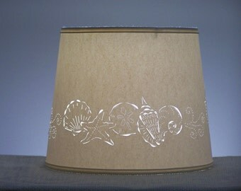Seashell Cut Lampshade - Paper Lampshade - Cut & Pierced Lampshade - Seashells - Paper - Punched Shade - Lamp Shade - Lampshades for Lamps