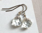 glam dots - faceted briolette drop earrings