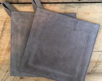Small Suede Potholder - 19 Color Options