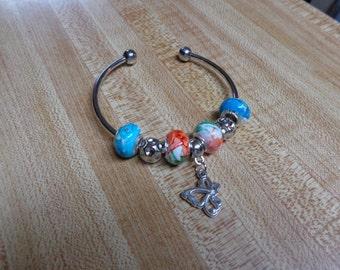 Pretty European Style Bracelet with Butterfly Charm