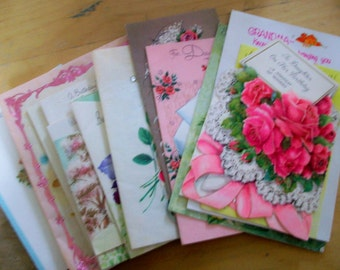 Vintage Greeting Cards  21 BD, Christmas,Mother's Day used